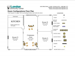 London Community Center - Room Configs Floor Plan for Website